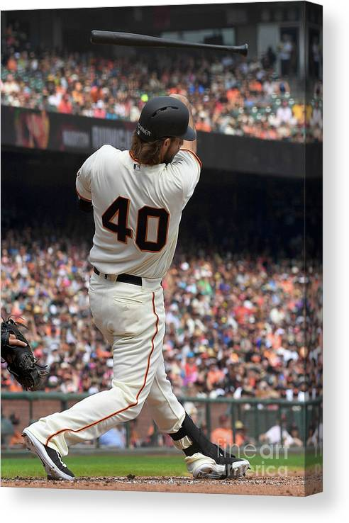 San Francisco Canvas Print featuring the photograph Madison Bumgarner by Thearon W. Henderson