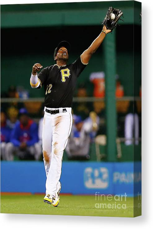 Second Inning Canvas Print featuring the photograph Andrew Mccutchen by Jared Wickerham