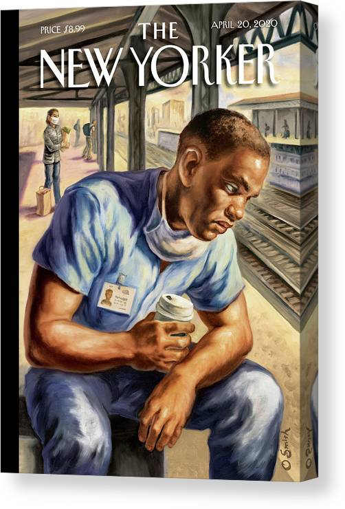Health Canvas Print featuring the painting After The Shift by Owen Smith