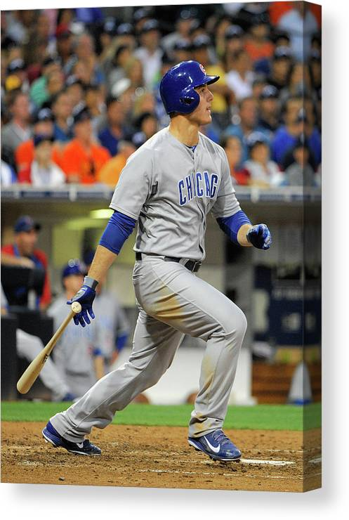California Canvas Print featuring the photograph Anthony Rizzo by Denis Poroy