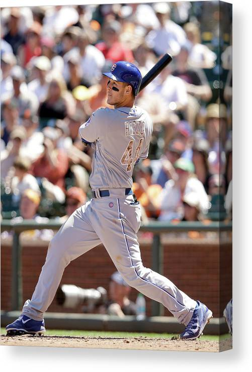 San Francisco Canvas Print featuring the photograph Anthony Rizzo by Ezra Shaw