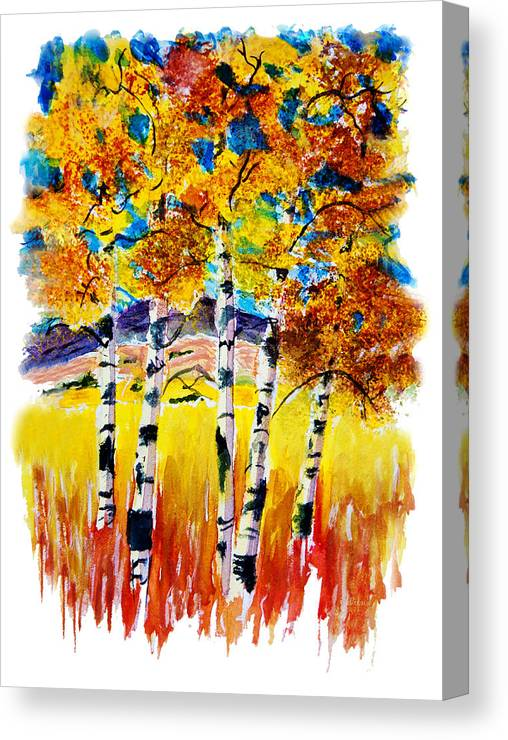 Aspen Canvas Print featuring the painting Aspen Glow by Donna Proctor