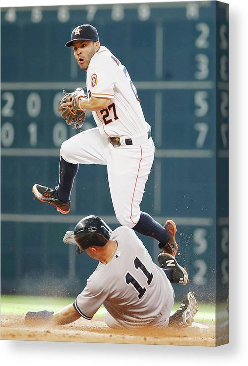 People Canvas Print featuring the photograph Brett Gardner by Scott Halleran