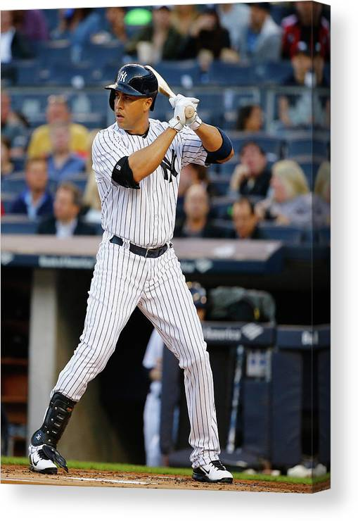 People Canvas Print featuring the photograph Carlos Beltran by Al Bello