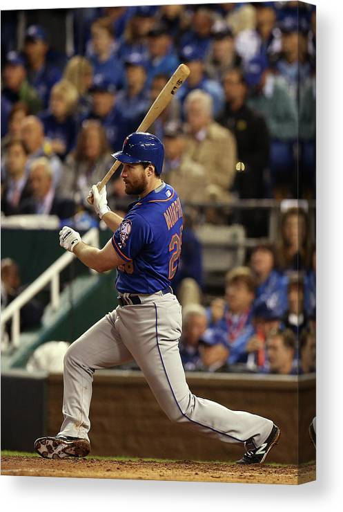 Playoffs Canvas Print featuring the photograph Daniel Murphy by Brad Mangin