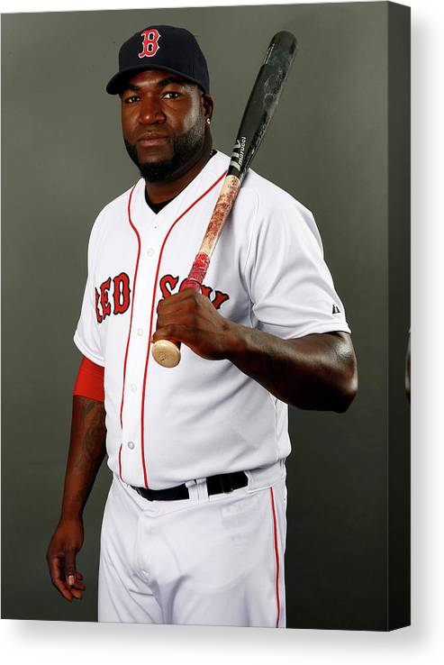Media Day Canvas Print featuring the photograph David Ortiz by Elsa