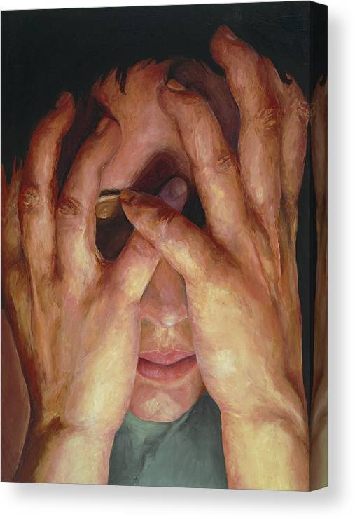 Hands Canvas Print featuring the painting Feelings by Patricia Awapara