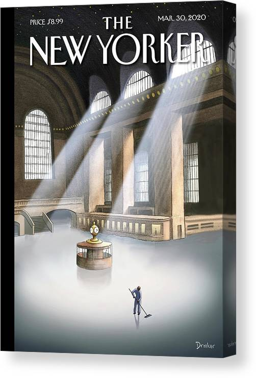 Grand Central Terminal Canvas Print featuring the painting Grand Central Terminal by Eric Drooker