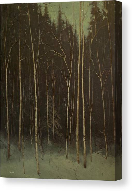 Canvas Print featuring the painting Hinterland by Mary Jo Van Dell