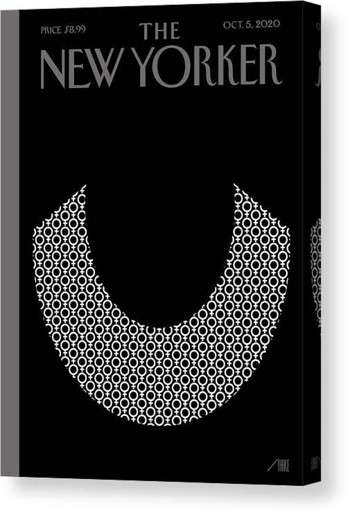 Rbg Canvas Print featuring the digital art Icons by Bob Staake