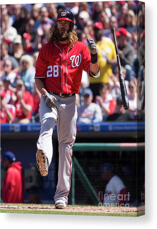 Second Inning Canvas Print featuring the photograph Jayson Werth by Mitchell Leff
