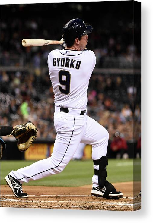 Second Inning Canvas Print featuring the photograph Jedd Gyorko by Denis Poroy