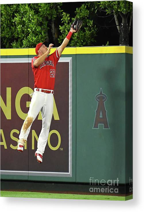 People Canvas Print featuring the photograph Kyle Seager and Mike Trout by Jayne Kamin-oncea