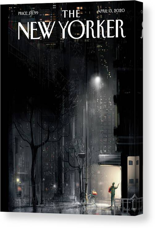 Lifeline Canvas Print featuring the painting Lifeline by Pascal Campion