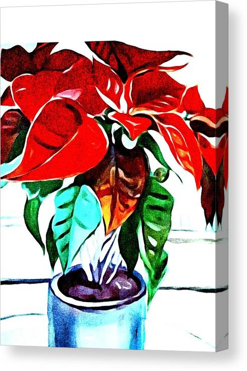 Still Life Canvas Print featuring the painting Living Flower by Andrew Johnson