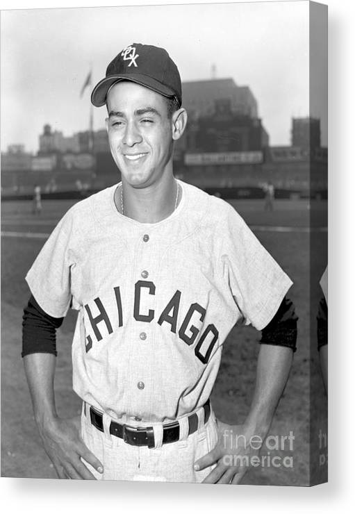 American League Baseball Canvas Print featuring the photograph Luis Aparicio by Kidwiler Collection