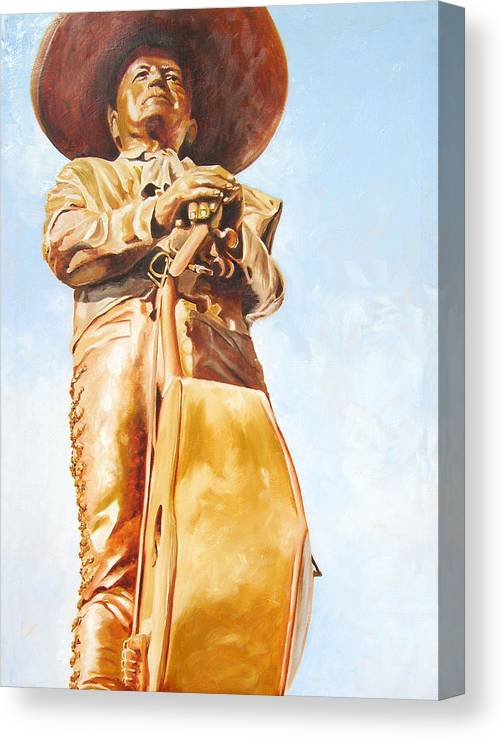 Mariachi Canvas Print featuring the painting Mariachi by Laura Pierre-Louis