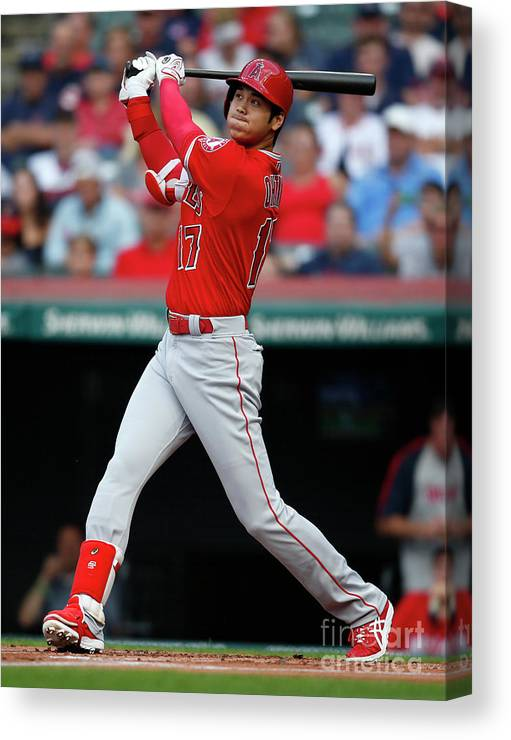 People Canvas Print featuring the photograph Mike Clevinger by Ron Schwane