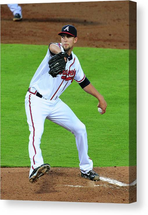 Atlanta Canvas Print featuring the photograph Mike Minor by Scott Cunningham