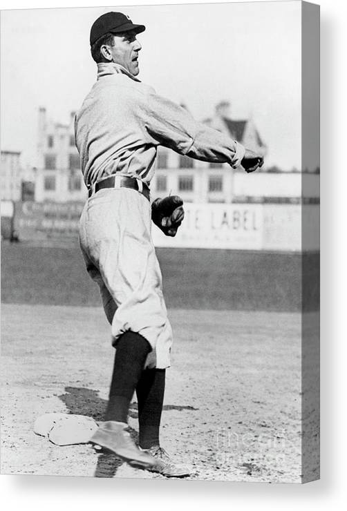American League Baseball Canvas Print featuring the photograph Nap Lajoie by National Baseball Hall Of Fame Library