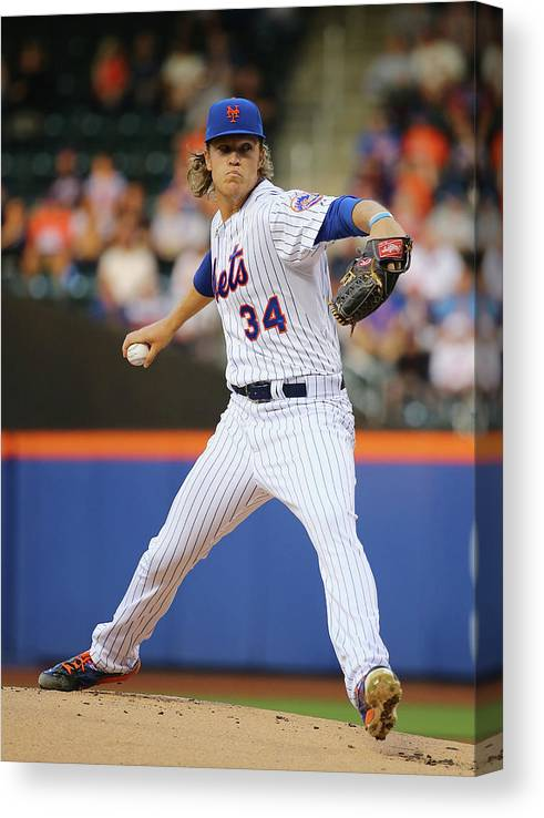 People Canvas Print featuring the photograph Noah Syndergaard by Al Bello
