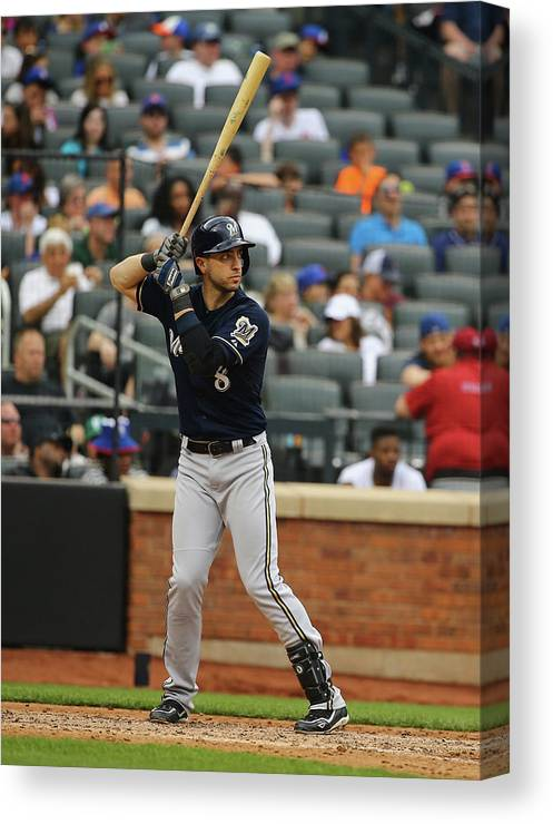 People Canvas Print featuring the photograph Ryan Braun by Al Bello