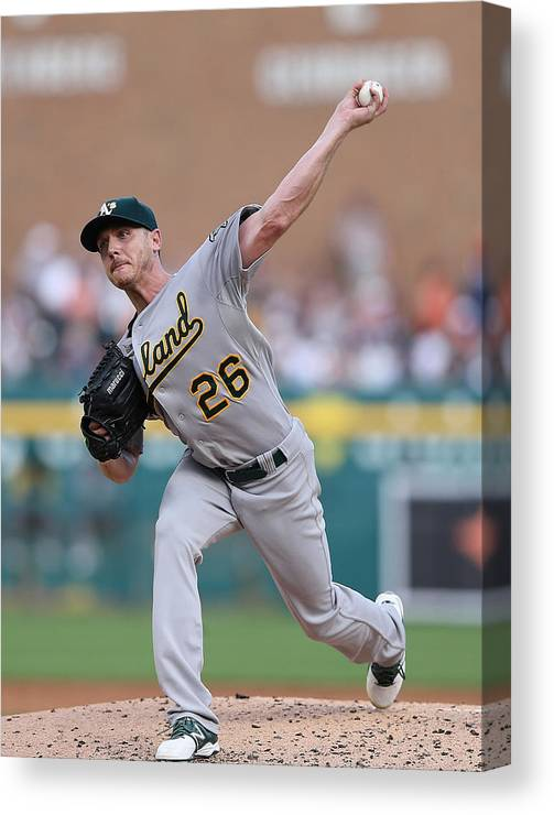 Second Inning Canvas Print featuring the photograph Scott Kazmir by Leon Halip
