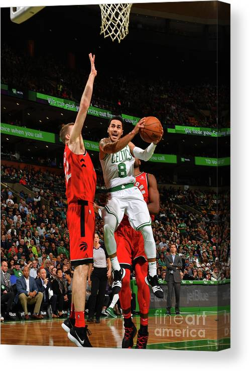 Nba Pro Basketball Canvas Print featuring the photograph Shane Larkin by Jesse D. Garrabrant