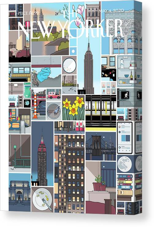 City Canvas Print featuring the digital art Still Life by Chris Ware