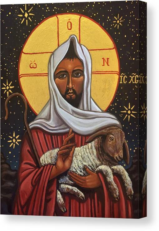 Canvas Print featuring the painting The Good Shepherd by Kelly Latimore