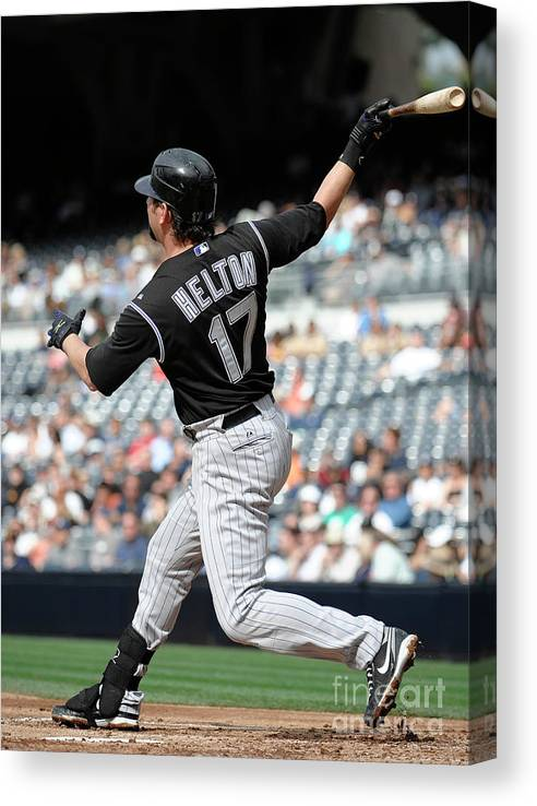 People Canvas Print featuring the photograph Todd Helton by Denis Poroy