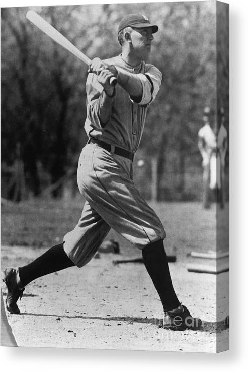 American League Baseball Canvas Print featuring the photograph Ty Cobb by National Baseball Hall Of Fame Library