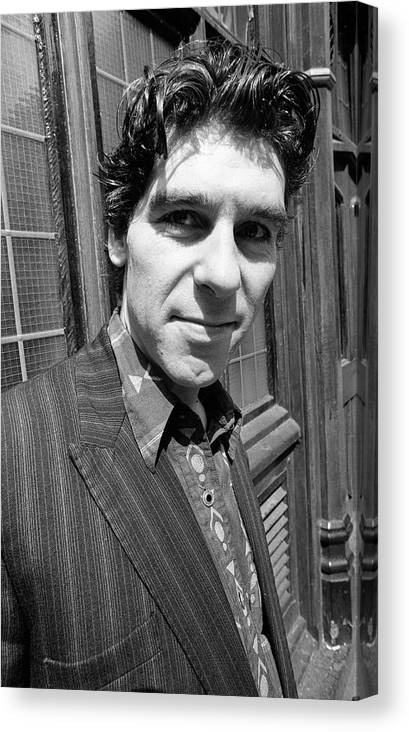 Actor Canvas Print featuring the photograph Daniel Peacock Actor 1991 by Martyn Goodacre