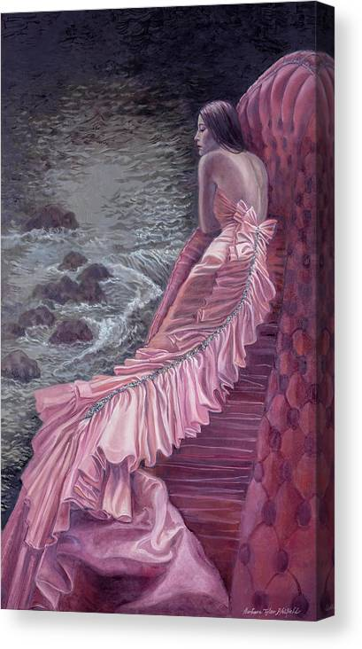 Fashion Canvas Print featuring the painting Pink Taffeta by Barbara Tyler Ahlfield