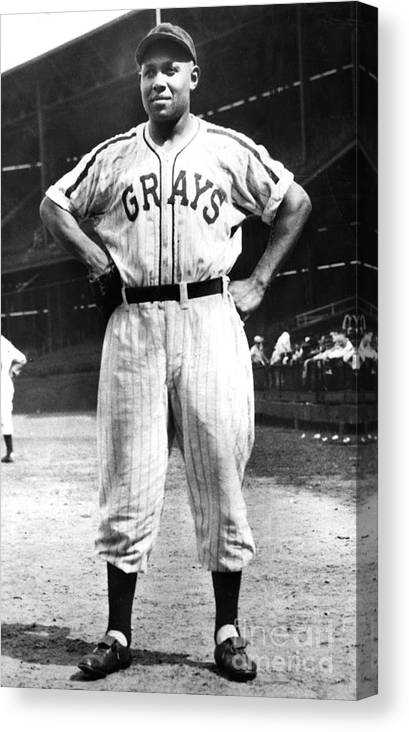 African Ethnicity Canvas Print featuring the photograph Buck Leonard by National Baseball Hall Of Fame Library