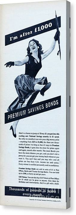 People Canvas Print featuring the photograph Premium Bonds by Picture Post