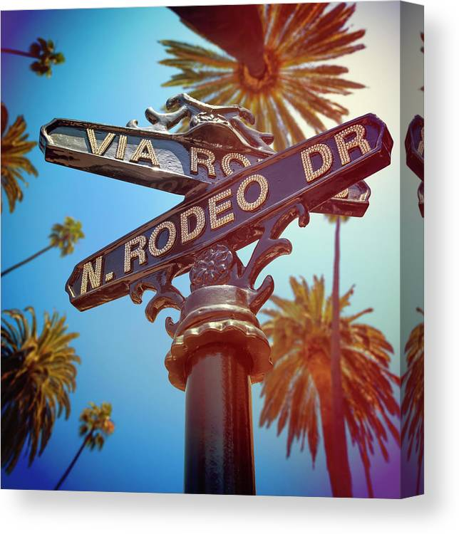 Beverly Hills Canvas Print featuring the photograph Beverly Hills California by Lpettet