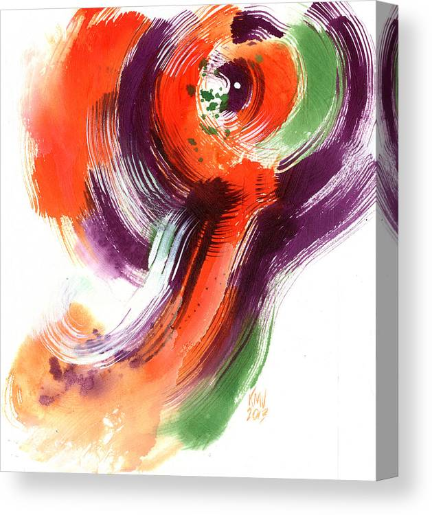 Abstract Canvas Print featuring the painting Fan Dancer by Ken Meyer jr