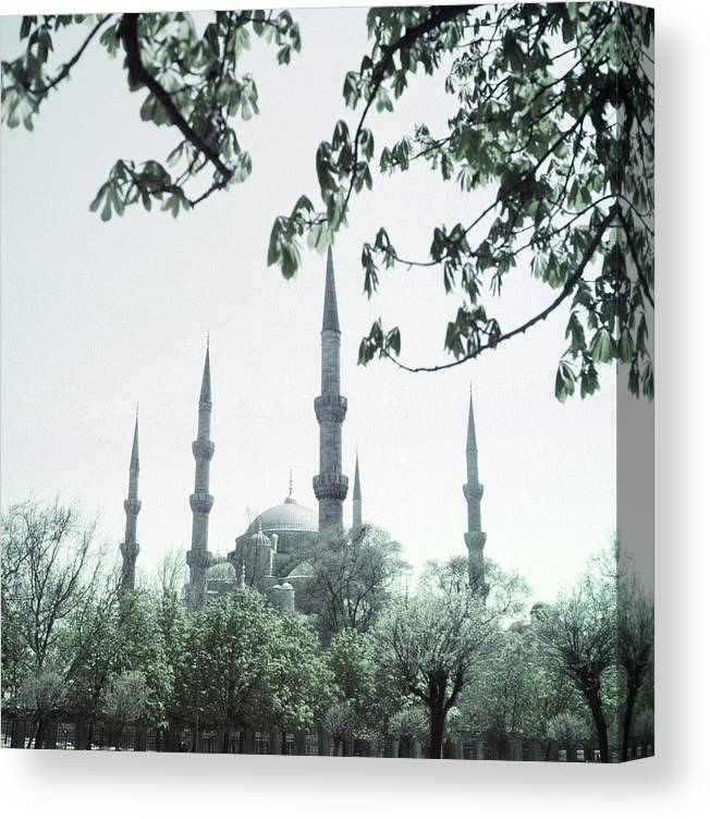 Turkey Canvas Print featuring the photograph Mosque Behind Trees In Turkey by Horst P. Horst