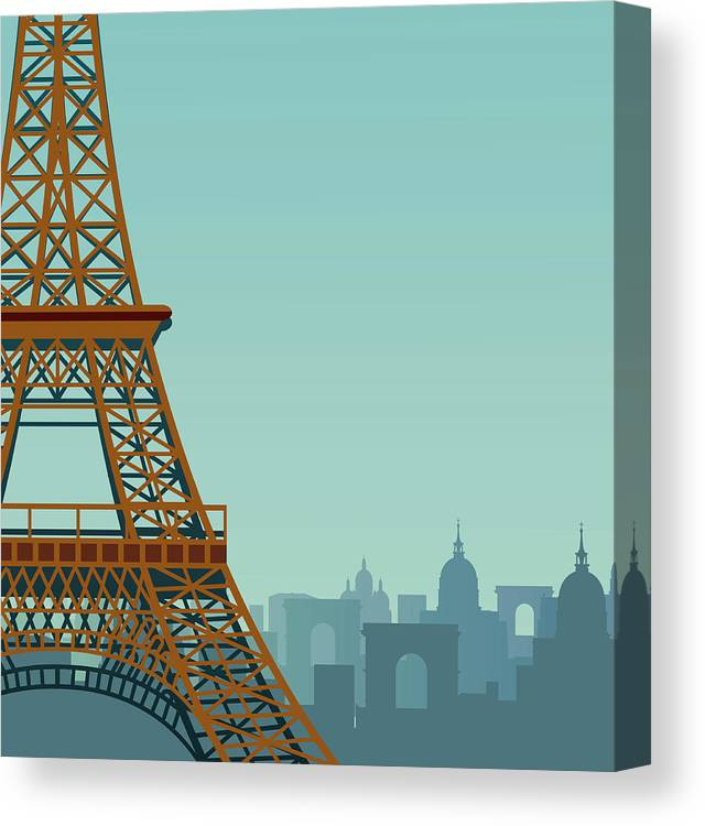 Built Structure Canvas Print featuring the digital art Paris by Drmakkoy