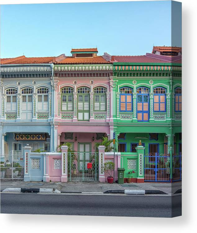 Tranquility Canvas Print featuring the photograph Peranakan Architecture by Edward Tian