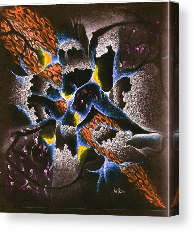Abstract Canvas Print featuring the mixed media The Shadow Stone by Nathaniel Hoffman