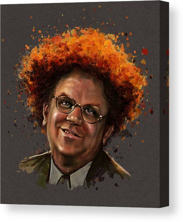 Dr. Steve Brule Canvas Print featuring the painting Dr. Steve Brule by Fay Helfer