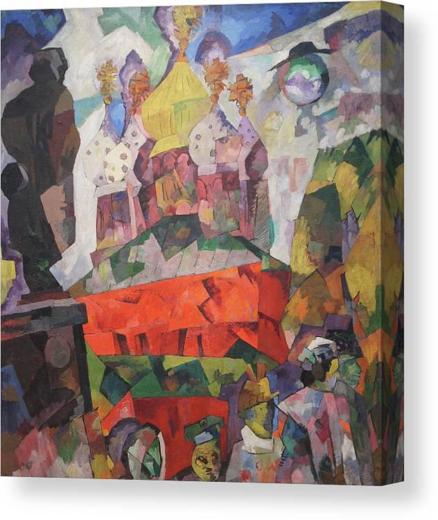 Aristarkh Lentulov Canvas Print featuring the painting Tverskoy Boulevard by Aristarkh Lentulov