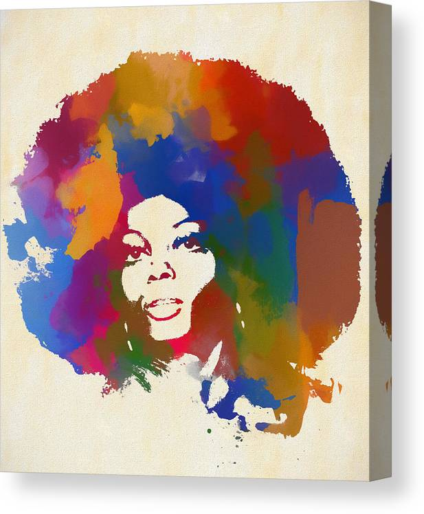 DIANA ROSS SOULFUL MODERN BEAUTIFULLY DECORATIVE CANVAS ART PRINT Art Williams