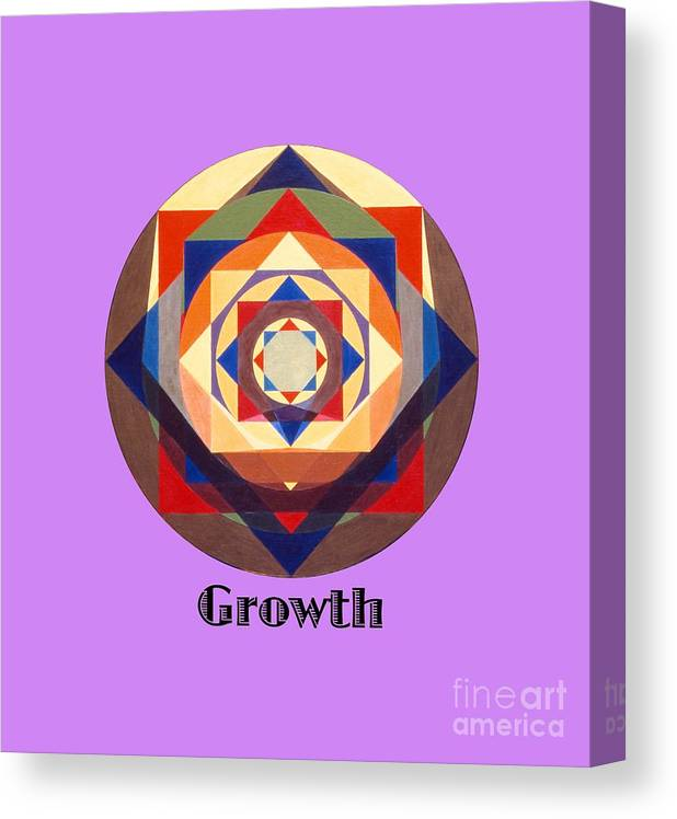 Painting Canvas Print featuring the painting Growth text by Michael Bellon