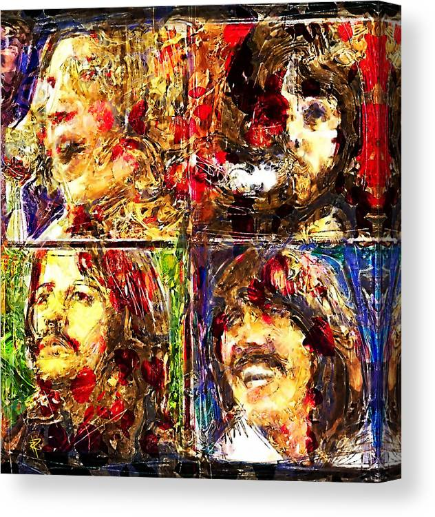 The Beatles Canvas Print featuring the digital art Let it Be by Russell Pierce
