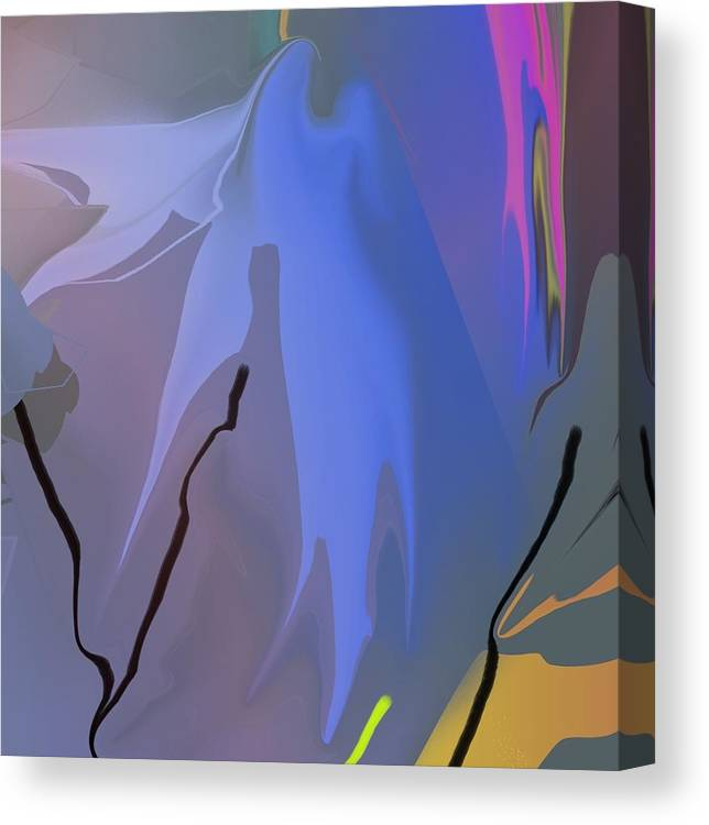 Abstract Canvas Print featuring the painting Optimism Closeup 8 by Peter Shor