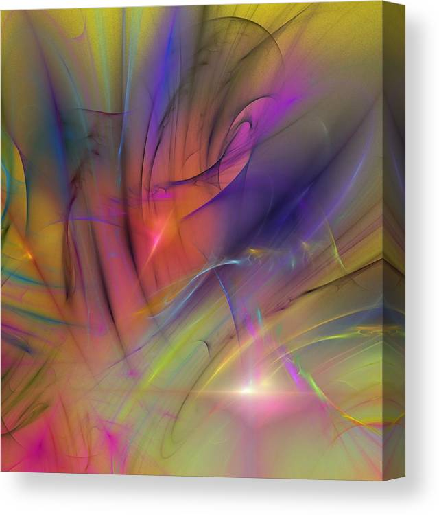 Abstract Canvas Print featuring the digital art The Gloaming by David Lane