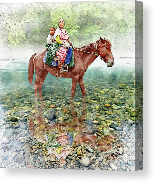 Water Canvas Print featuring the painting Water is Life by John Guthrie